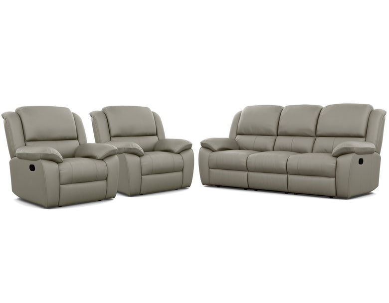 Kent 3 Seater with End Recliners + 2 Recliners Package Leather Mist