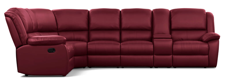 Kent 6 Seater Corner Modular with 5 Recliners and 1 Console