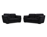 Le Grande 2 Seater + 2.5 Seater Lounge Package Fabric Belemnite Midnight
