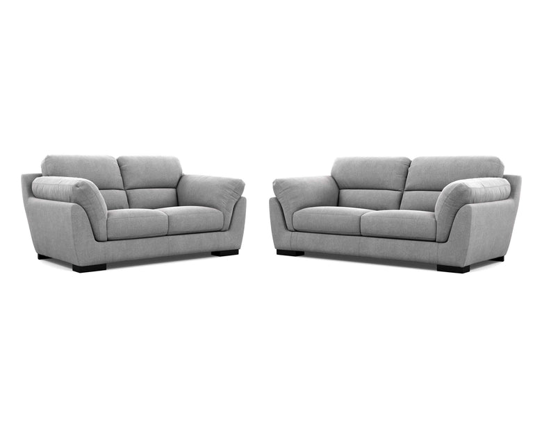 Le Grande 2 Seater + 2.5 Seater Lounge Package Fabric Ammonite Smoke