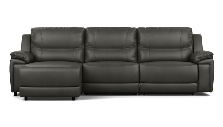 3.5 Seater Chaise with End Electric Recliner