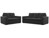 Urban 2 Seater + 3 Seater Lounge Package Fabric Alice Carbon Steel