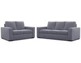 Urban 2 Seater + 3 Seater Lounge Package Fabric Alice Grey Gum