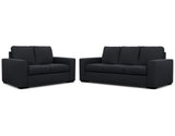 Urban 2 Seater + 3 Seater Lounge Package Fabric Buckskin Midnight