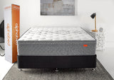 Urban Pocket Mattress in room setting with box