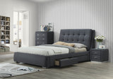 Vara Bed with Tall Boy and Bedside Table