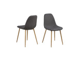 Wesley Dark Grey Dining Chairs