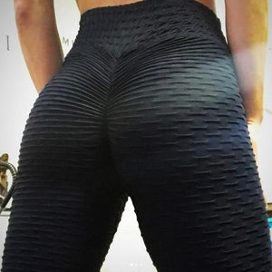 High Waist Wrinkled Leggings
