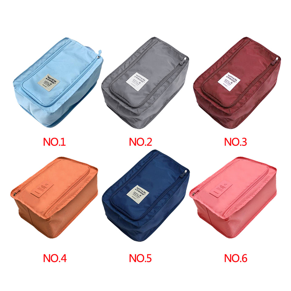 Travel Storage Bag Nylon 6 Colors Portable Shoes Clothes Organizer Bags Shoe Sorting Pouch