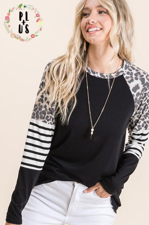 Curvy Babe Leopard Love Long Sleeve