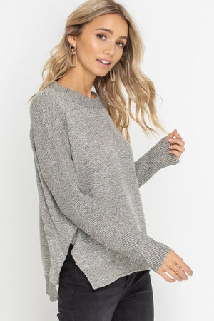 Stone Side Slit Sweater
