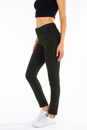 Kancan Hunter Green Skinny Jeans