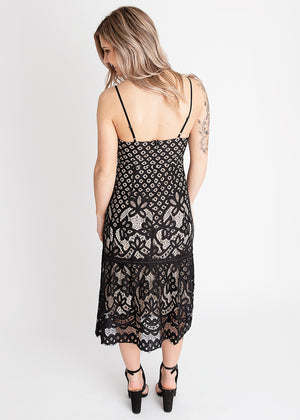 Cheers Cami Lace Midi Dress