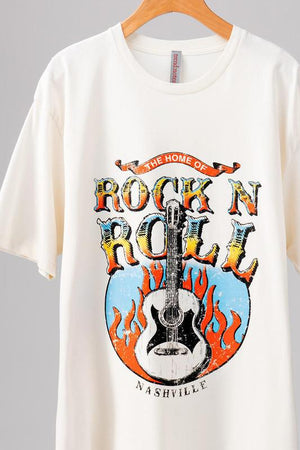 Oversized Rock N Roll Nashville Graphic Tee