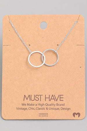 Double Rings Pendant Necklace