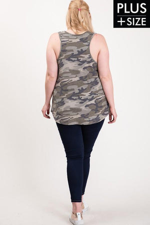 Curvy Babe Camouflage Tank Top