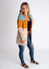 Stripe Open Sweater Cardigan