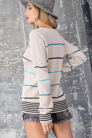 How She Rolls Ribbed Sweater
