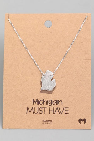 Michigan State Pendant Necklace