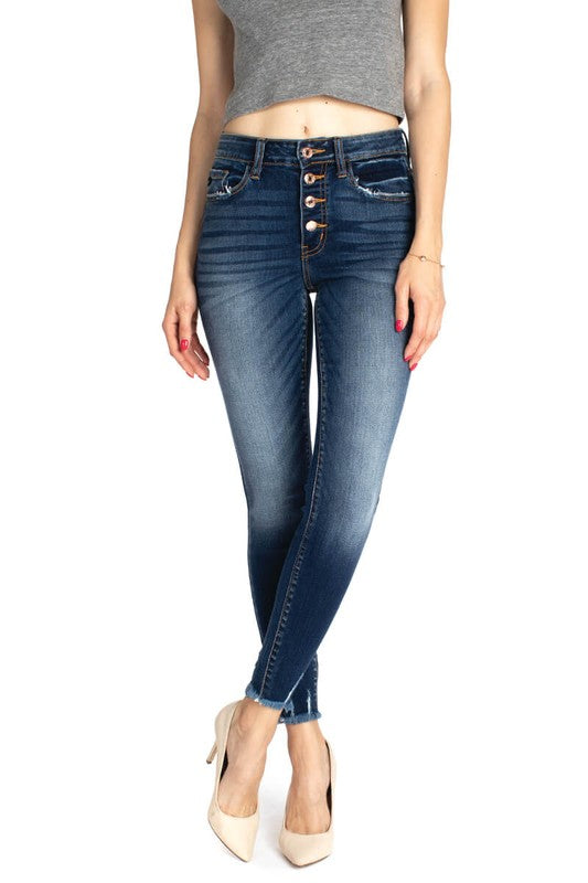 Kancan High Rise R&B Ankle Skinny Jeans