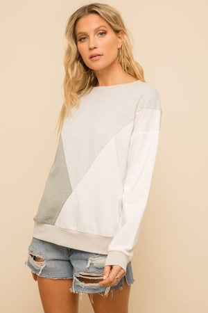 Cool Anymore Color Block Sweatshirt