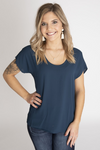 Together Is Better Teal Basic Top