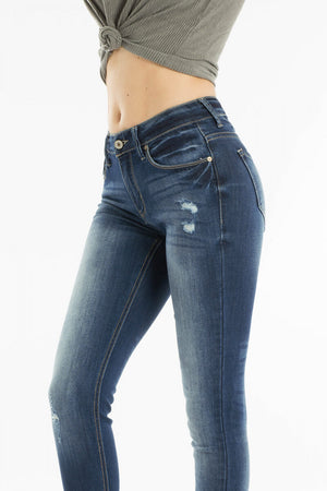 Kancan Mid Rise Super Skinny Jeans