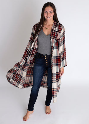 Party For Two Plaid Cover Up