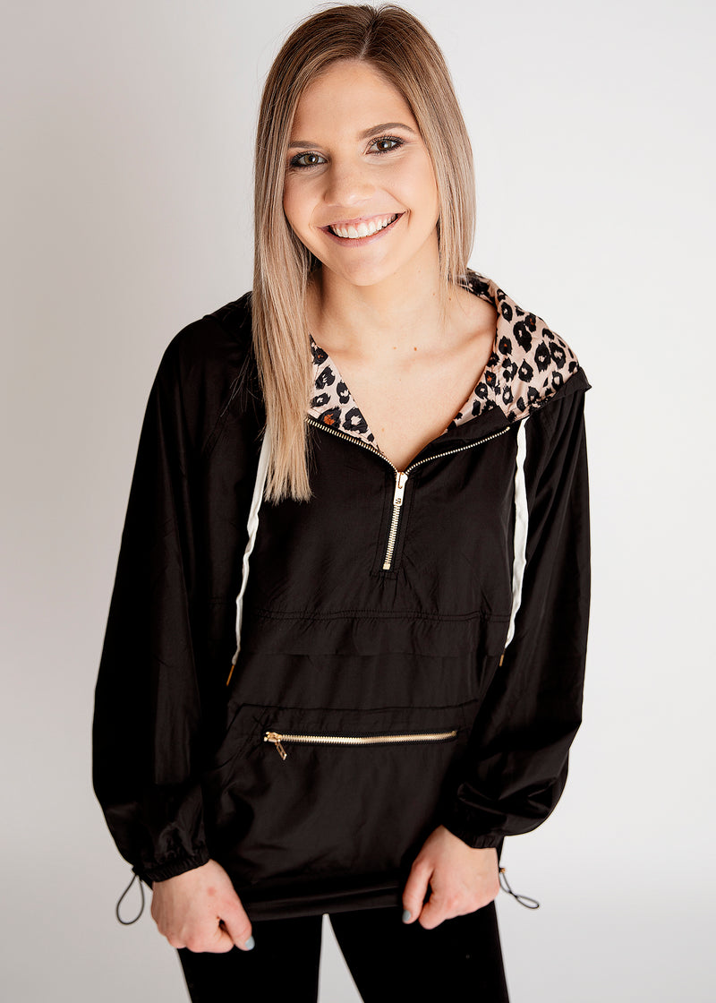 Lady Like Leopard Windbreaker