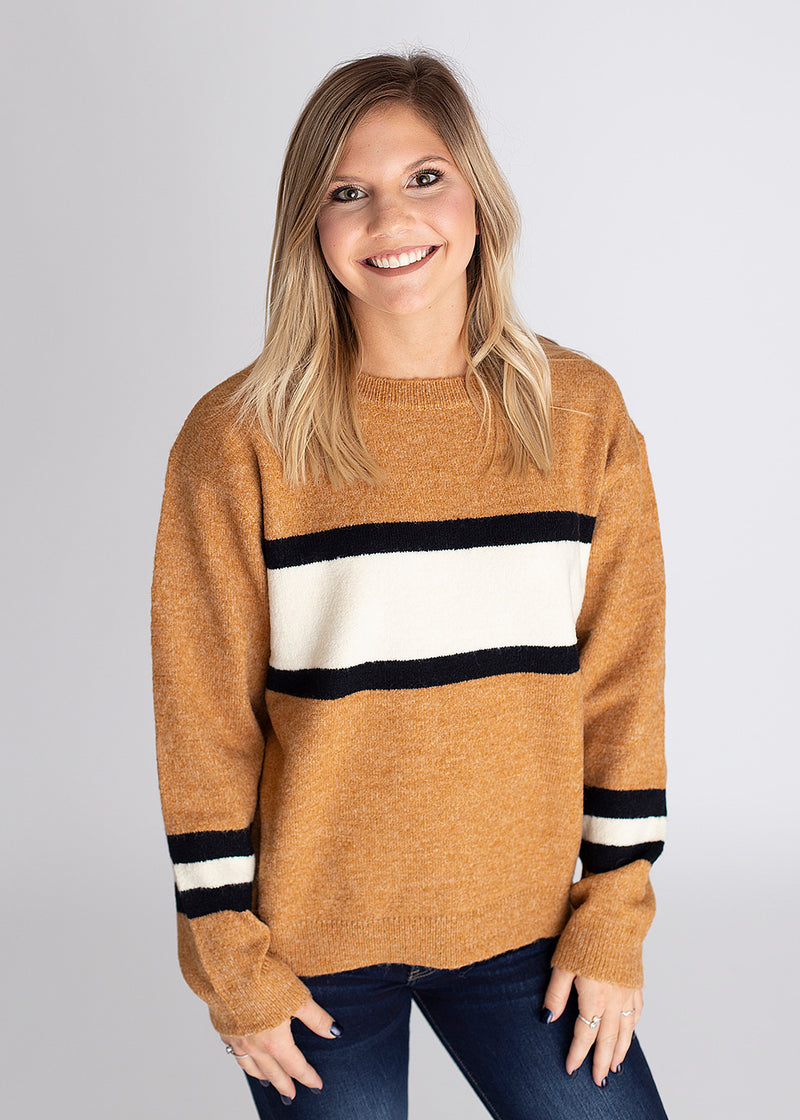 Small Town Girl Striped Pullover Sweater