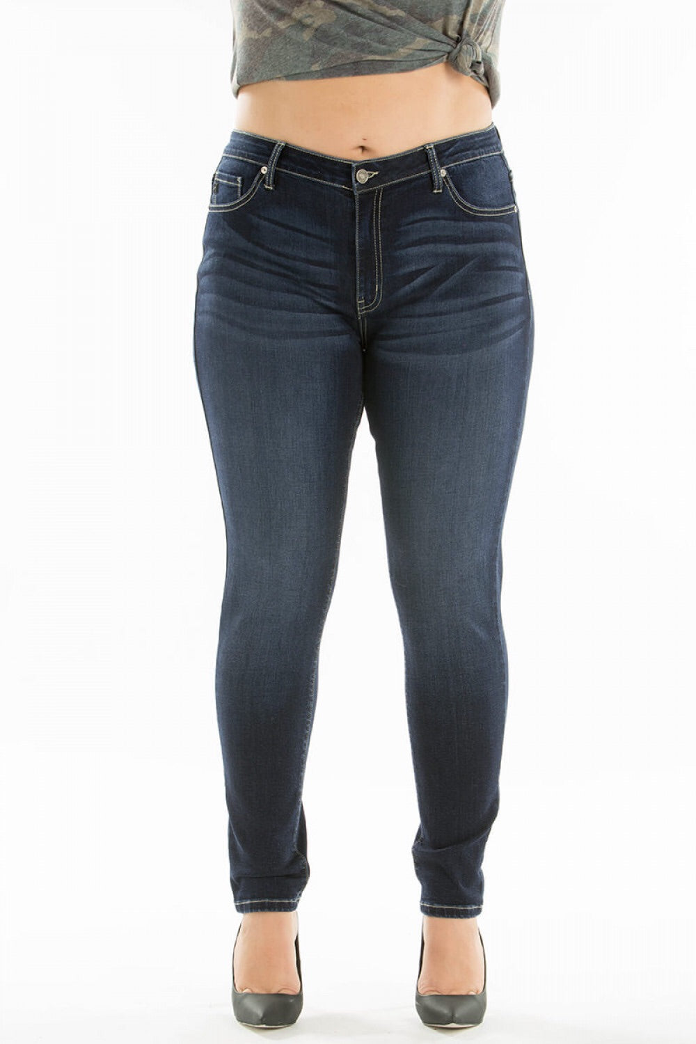 Plus Size Dark Wash Kancan Jeans