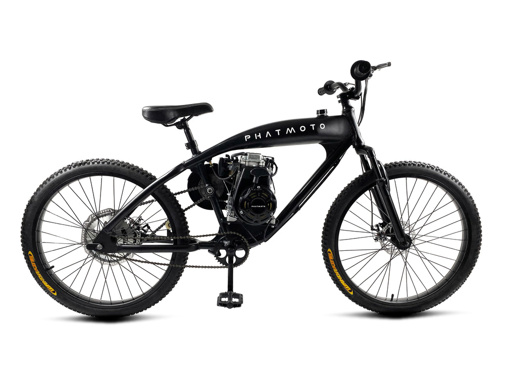 Phatmoto Rover 2020 - 79cc Motorized Bicycle (Matte Black)