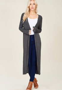 Fitted Long Cardigan
