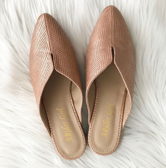 Rose Gold Mules