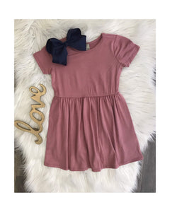Blush Cinched T-Shirt Dress