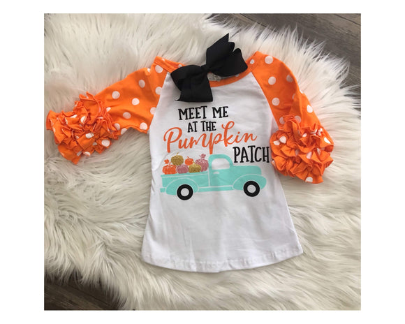 Long Sleeve Pumpkin Patch Baseball Tee