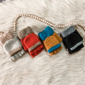 Colorblock Fingerless Mittens