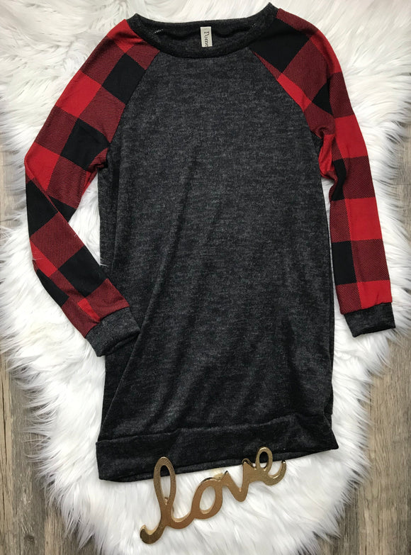 Buffalo Plaid Tunic Dress