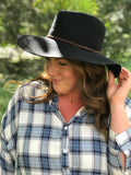 Black Wool Felt Wide Brimmed Hat