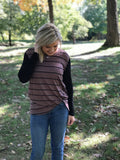 Mocha Striped Knotted Tunic