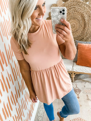 Blush Babydoll Tunic Top