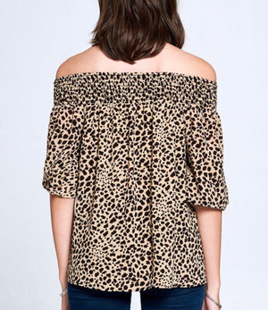 Cheetah Print Off The Shoulder