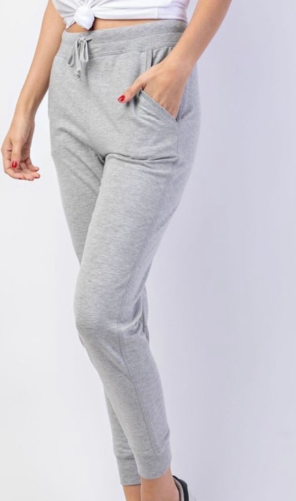 Heather Grey Drawstring Joggers