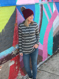 Charcoal Striped Hoodie
