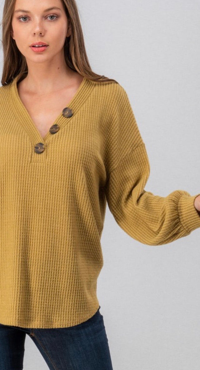 Mustard Button Detail Thermal