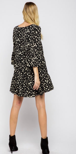 Dotted Tiered Babydoll Dress