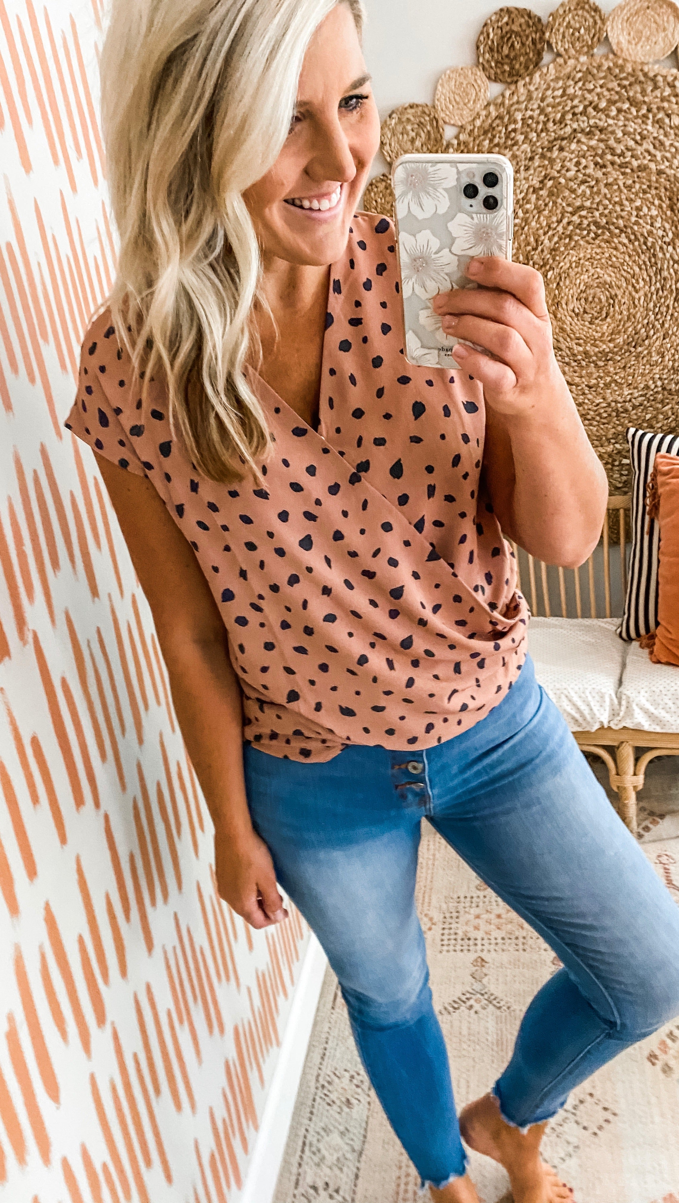 Dusty Mauve Dotted Top