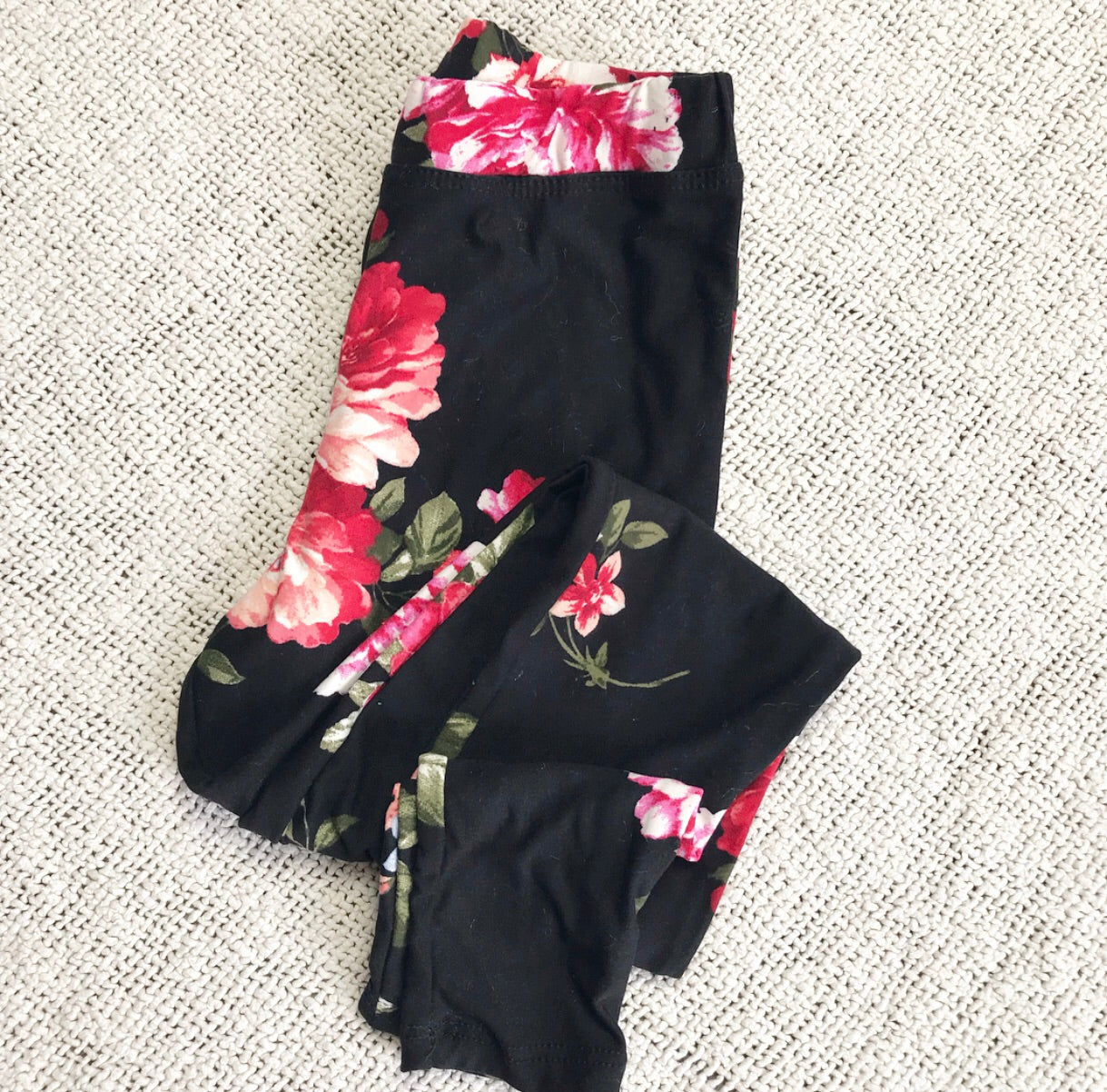 The Runaway Rascal Black Floral Leggings