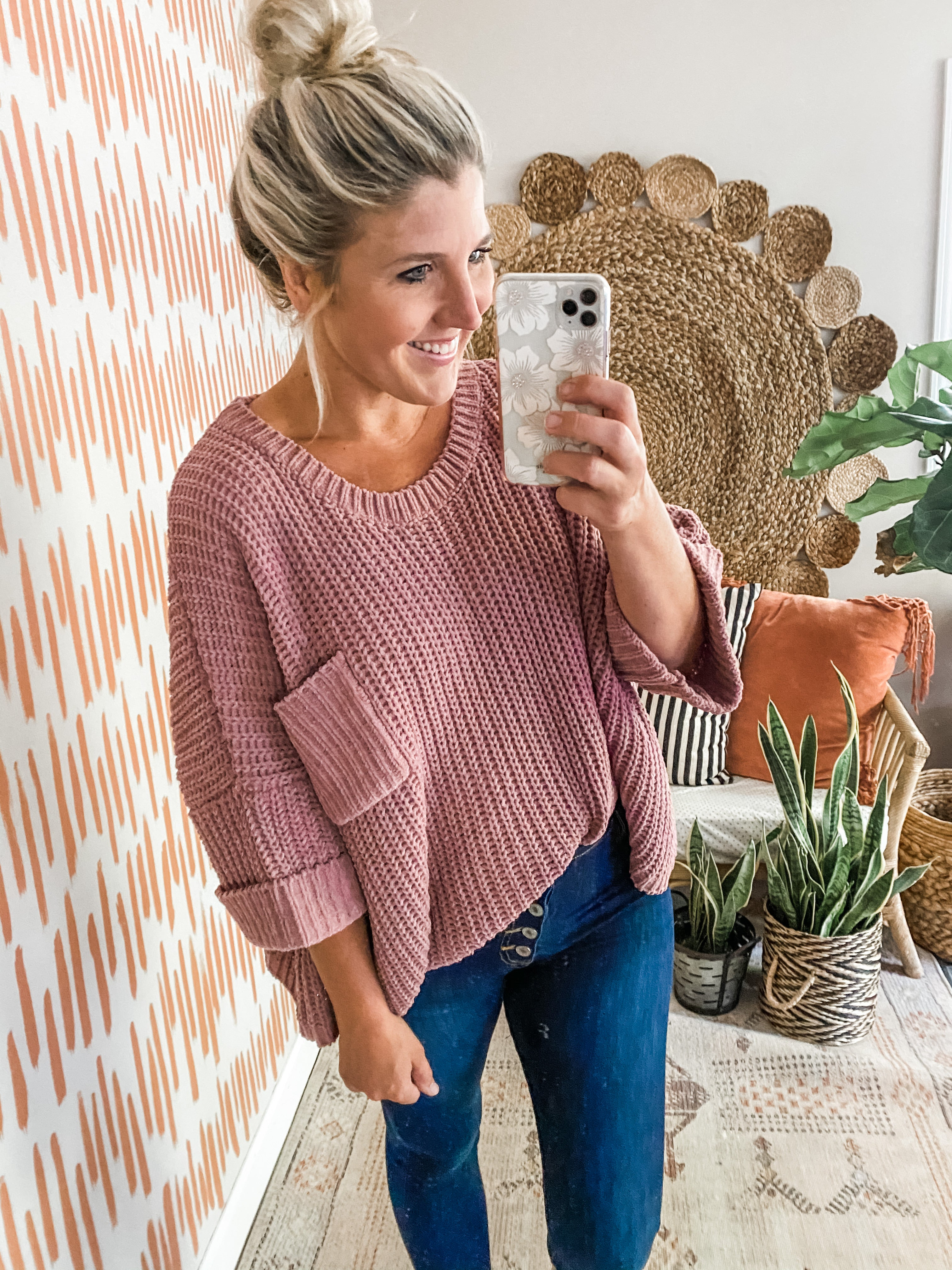 Mauve Oversized Sweater