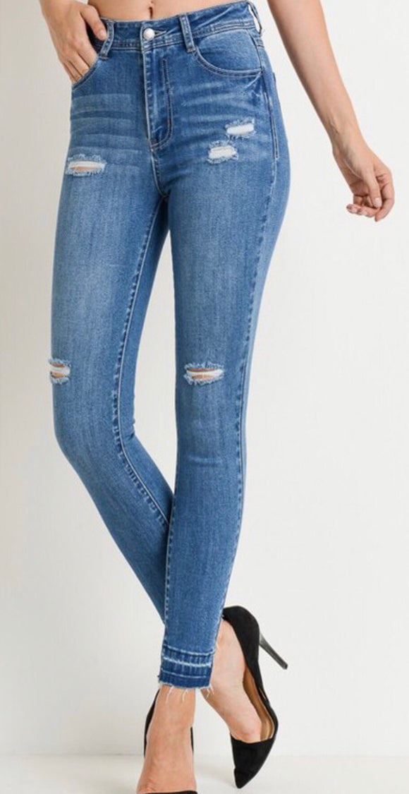 Medium Wash High Waisted Skinnies